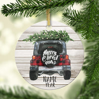 Holiday Off Road Personalized Ornament