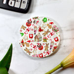 Christmas Sweets White Sandstone Cup Holder Coaster