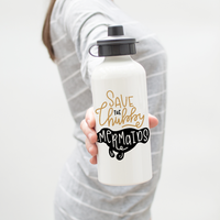 Save The Chubby Mermaids Water Bottle