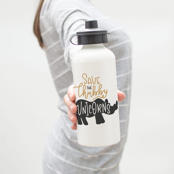 Save The Chubby Unicorns Water Bottle