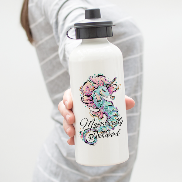 Majestically Awkward Seahorse Unicorn Water Bottle