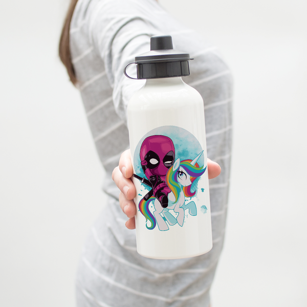 Deadpool Riding Pony Water Bottle