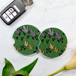 Dinosaur Tracks Sandstone Car Coaster