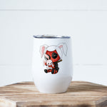Easter Bunny Deadpool Wine Tumbler