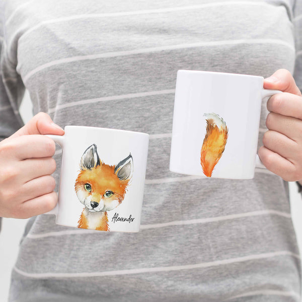 Personalized Fox Ceramic Mug