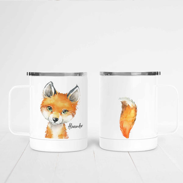 Personalized Fox Stainless Steel Camp Mug