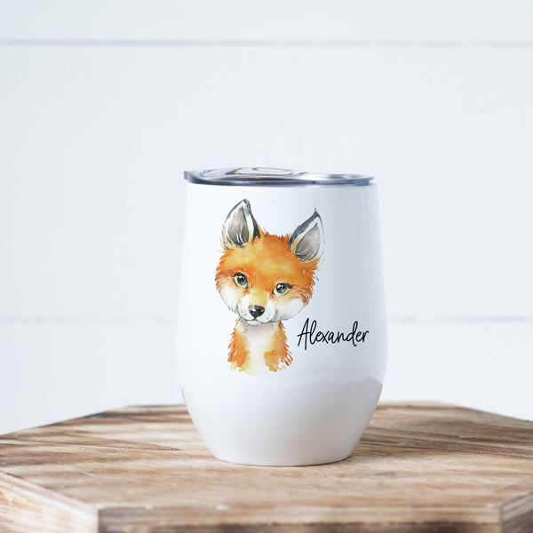 Personalized Fox Stainless Steel Wine Tumbler