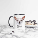 Personalized White Chihuahua Ceramic Mug