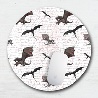 Medieval Flying Dragons Mouse Pad & Coaster