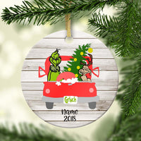 Grinchmas Truck Personalized Ornament