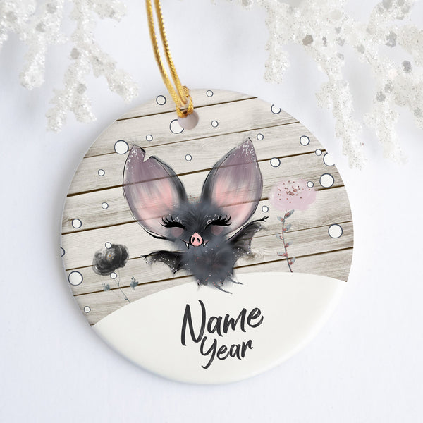 Bat Personalized Ornament