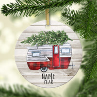 Holiday Camper Personalized Ornament