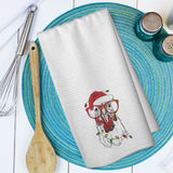 Holiday Chicken Microfiber Waffle Weave Towel