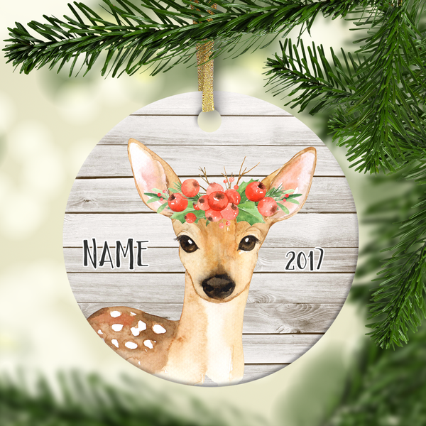 Deer Personalized Ornament