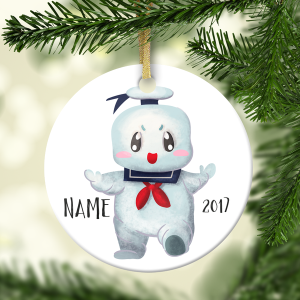 Marshmallow Man Personalized Ornament