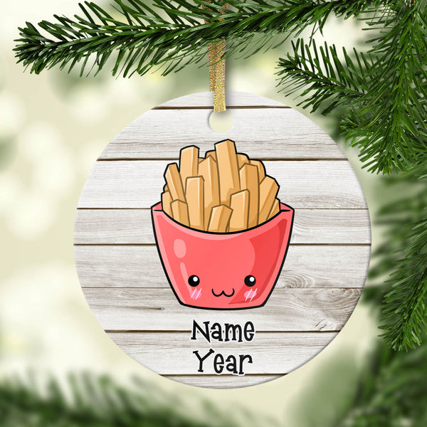 French Fries Personalized Ornament
