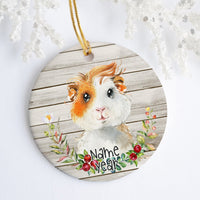 American Guinea Pig Personalized Ornament