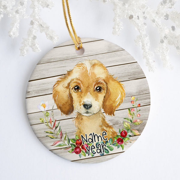 Puppy Personalized Ornament