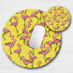 Yellow Flamingo Mouse Pad & Coaster