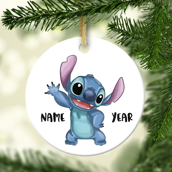 Stitch Personalized Ornament