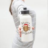 Merry Slothmas Water Bottle