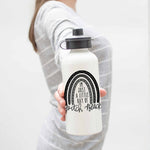 """I'm Just A Little Ray Of Pitch Black"" Rainbow Aluminum Water Bottle"