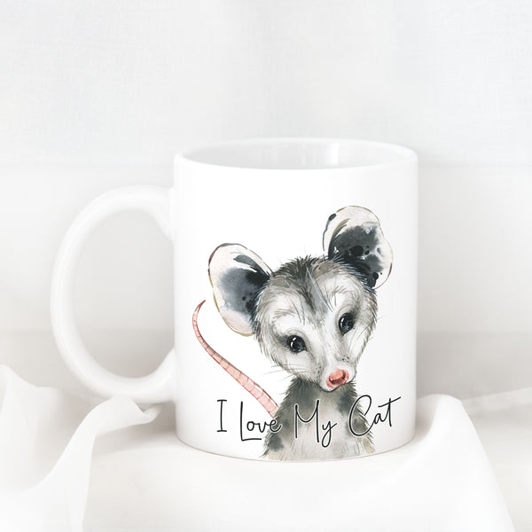 "Possum ""I Love My Cat"" Ceramic Mug"