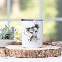 "Opossum ""I Love My Cat"" Stainless Steel Camp Mug"