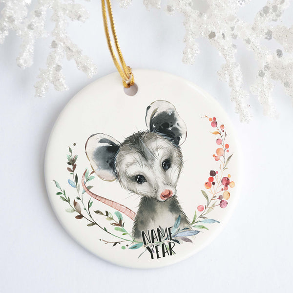 Opossum Personalized Ornament