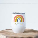 Rainbow Over It Wine Tumbler