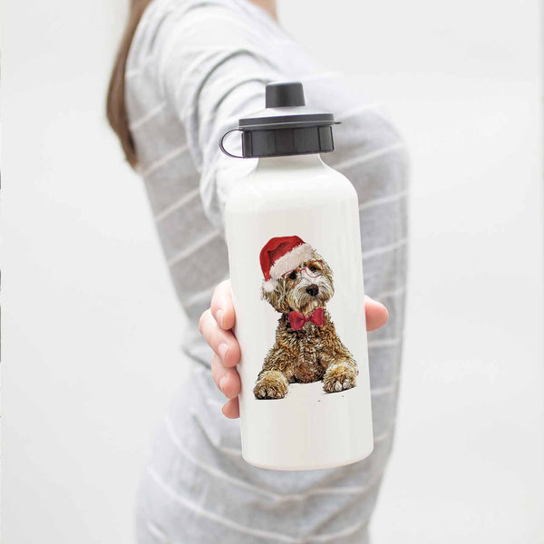 Holiday Goldendoodle Water Bottle