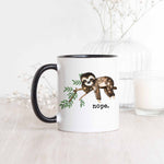 nope. Sloth Ceramic Mug