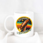 "Retro Rocket ""Sorry I Spaced It"" Ceramic Mug"
