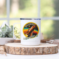 "Retro Rocket ""Sorry I Spaced It"" Stainless Steel Camp Mug"