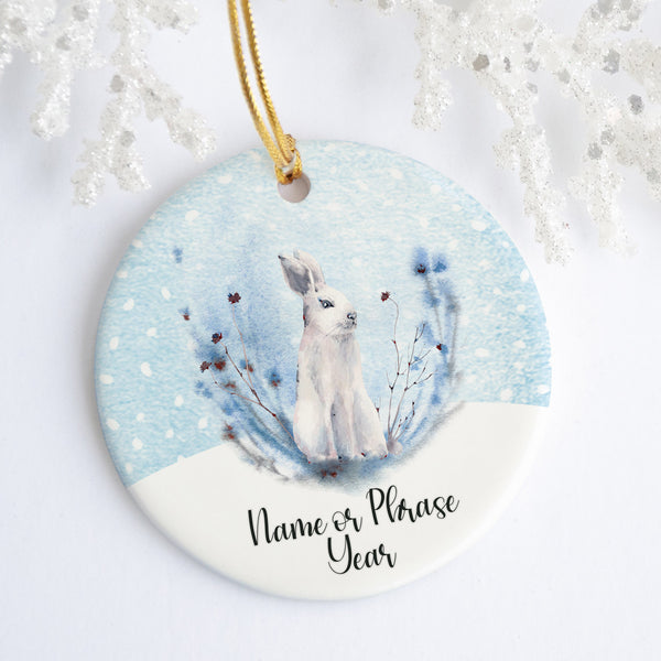White Rabbit Personalized Ornament
