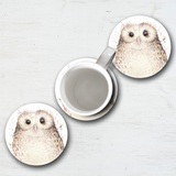 Watercolor Owl Mouse Pad & Coaster