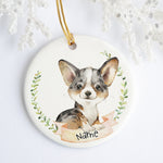Merle Welsh Corgi Personalized Ornament