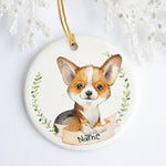 Red Tri Welsh Corgi Personalized Ornament