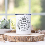 "Halloween Bat ""It's The Most Wonderful Time Of The Year"" Stainless Steel Camp Mug"