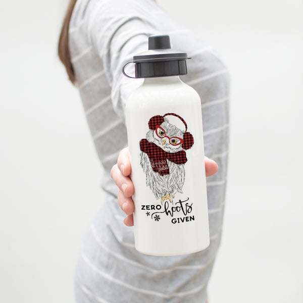 Zero Hoots Given Holiday Owl Water Bottle
