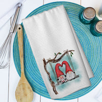 Gnomes In Love Swing Microfiber Waffle Weave Towel