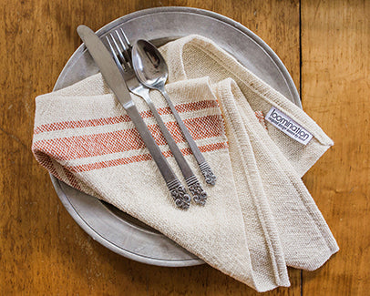 Striped Napkins in Sienna