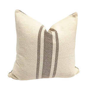 Vintage Stripe Pillow - Taupe