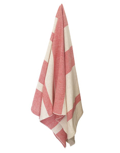 Striped Spa Towel - Scarlet