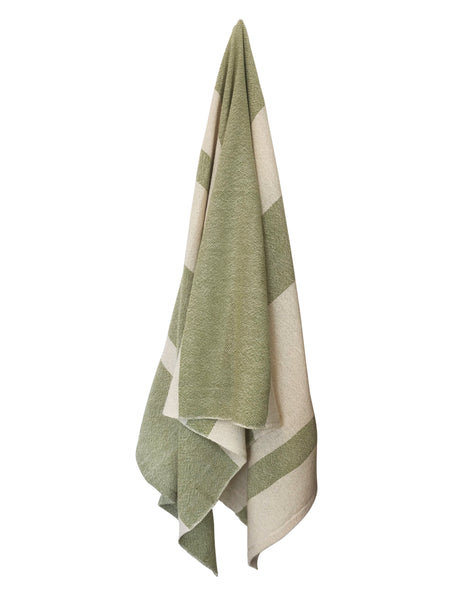 Striped Spa Towel - Lime