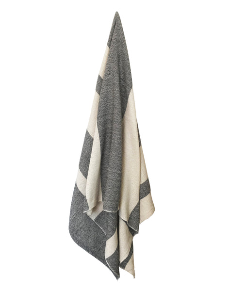 Striped Spa Towel - Black