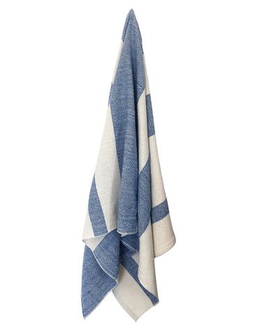 Striped Spa Towel - Royal