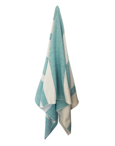 Striped Spa Towel - Aqua