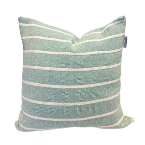 Simple Stripe Pillow - Aqua