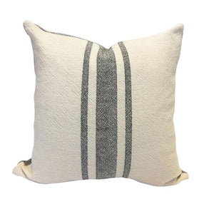 Vintage Stripe Pillow - Black
